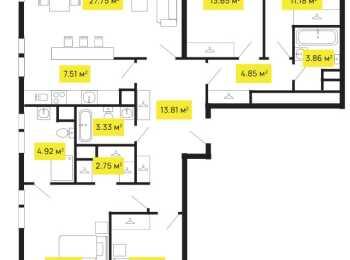 планировка 4-комнатной квартиры